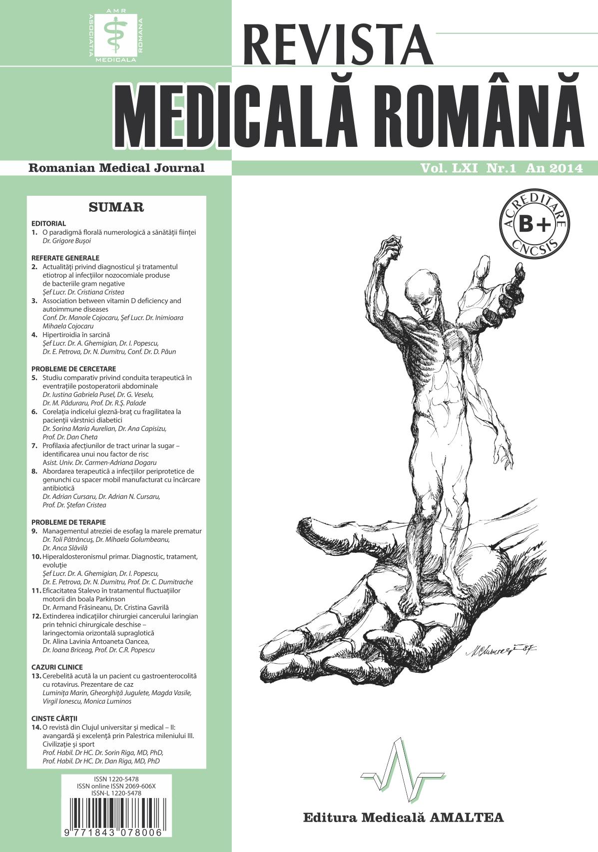 REVISTA MEDICALA ROMANA - Romanian Medical Journal, Vol. LXI, Nr. 1, An 2014