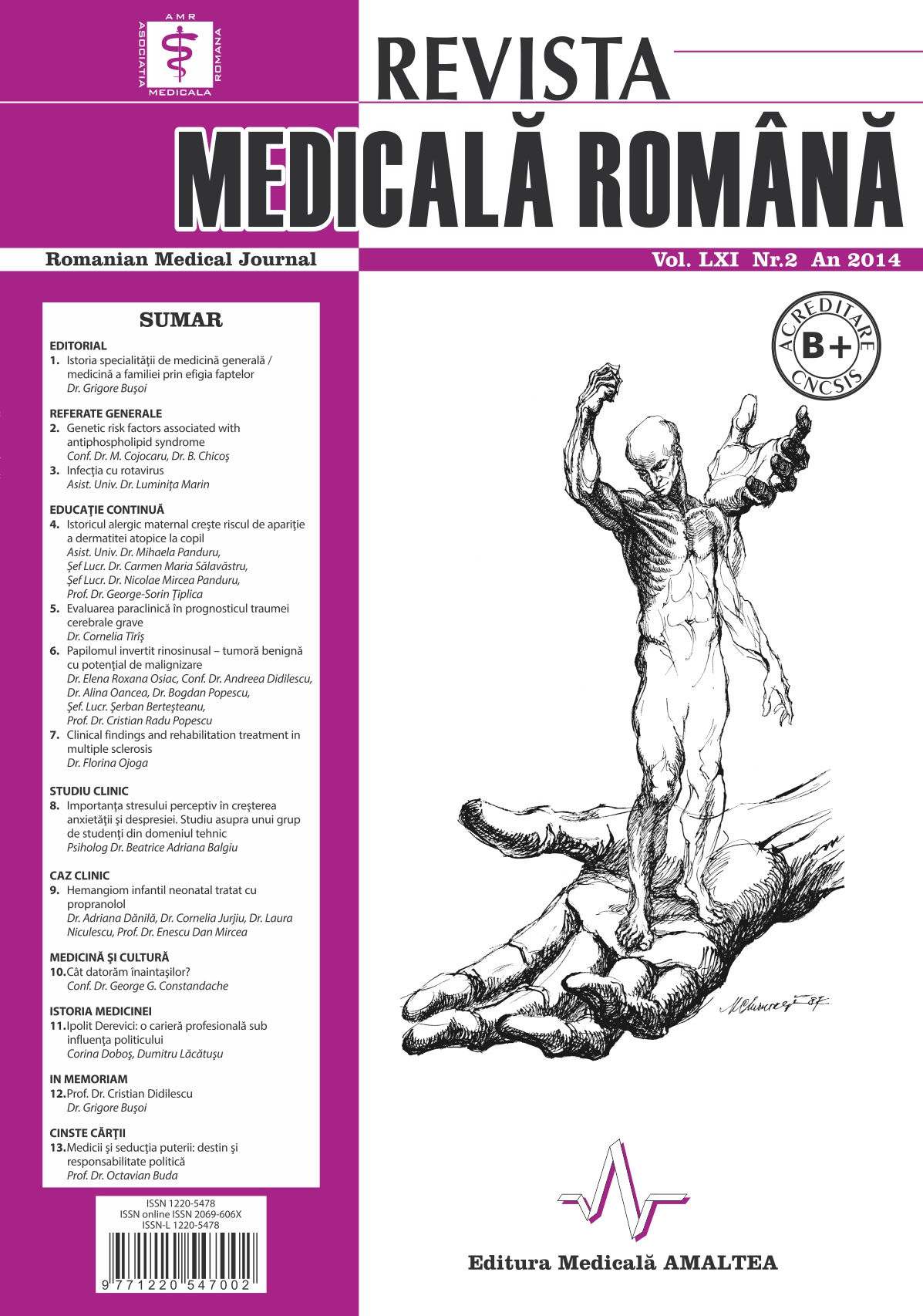 REVISTA MEDICALA ROMANA - Romanian Medical Journal, Vol. LXI, No. 2, Year 2014