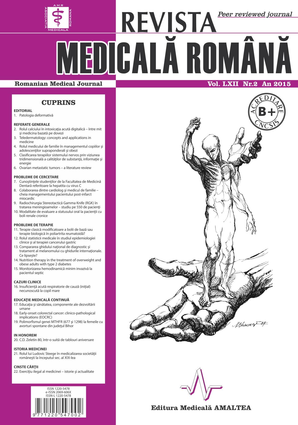 REVISTA MEDICALA ROMANA - Romanian Medical Journal, Vol. LXII, No. 2, Year 2015