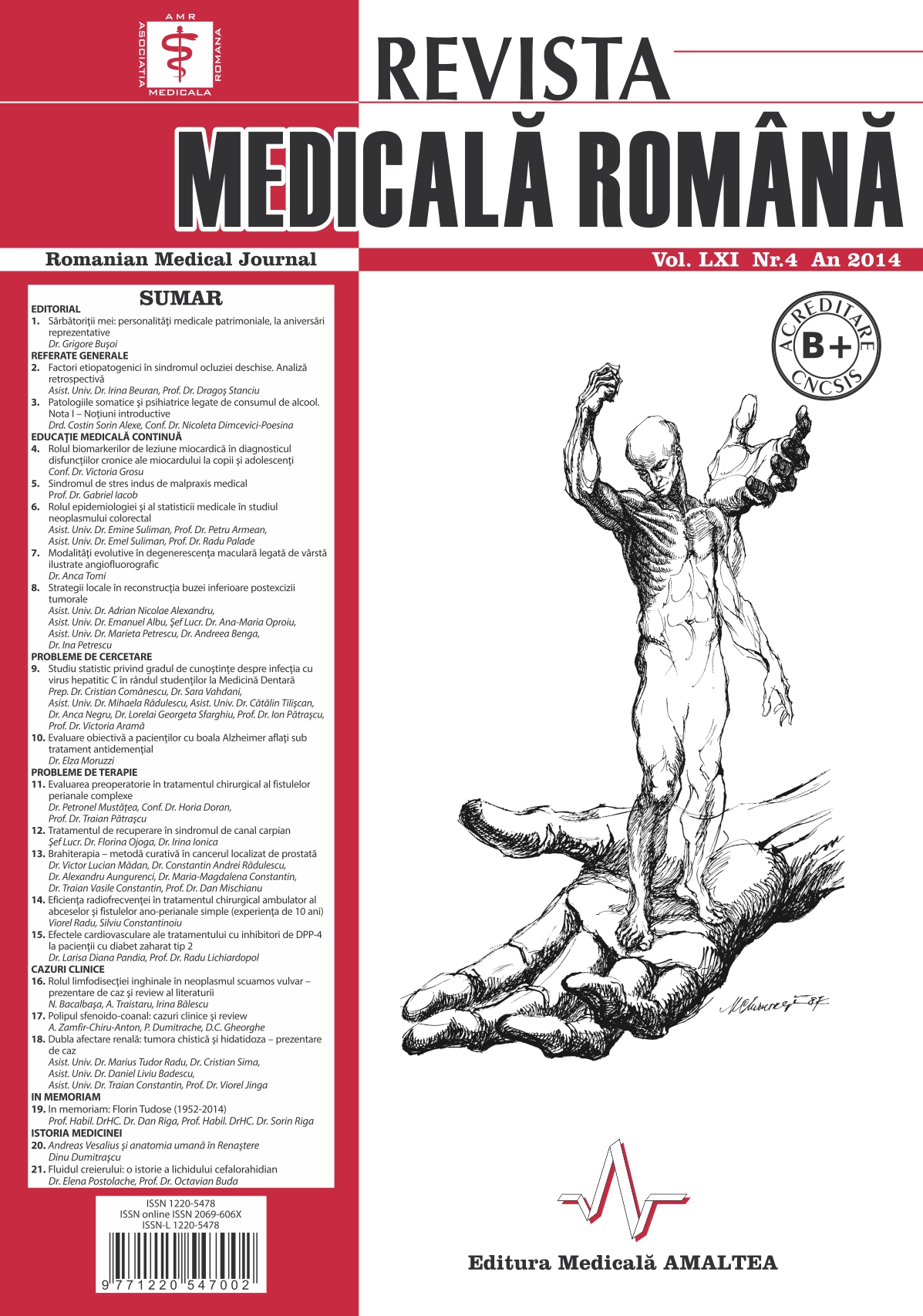 REVISTA MEDICALA ROMANA - Romanian Medical Journal, Vol. LXI, No. 4, Year 2014