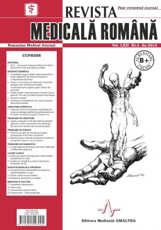 REVISTA MEDICALA ROMANA - Romanian Medical Journal, Vol. LXII, Nr. 4, An 2015