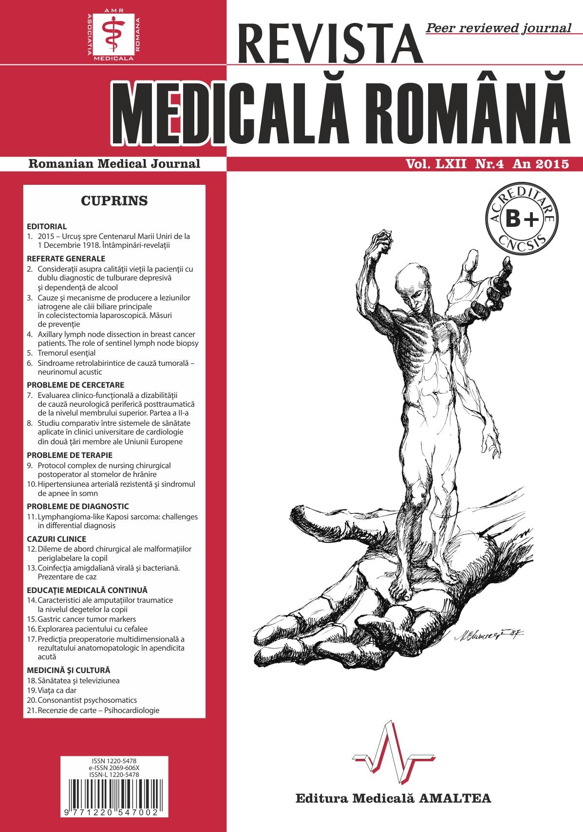 REVISTA MEDICALA ROMANA - Romanian Medical Journal, Vol. LXII, Nr. 4, An 2015