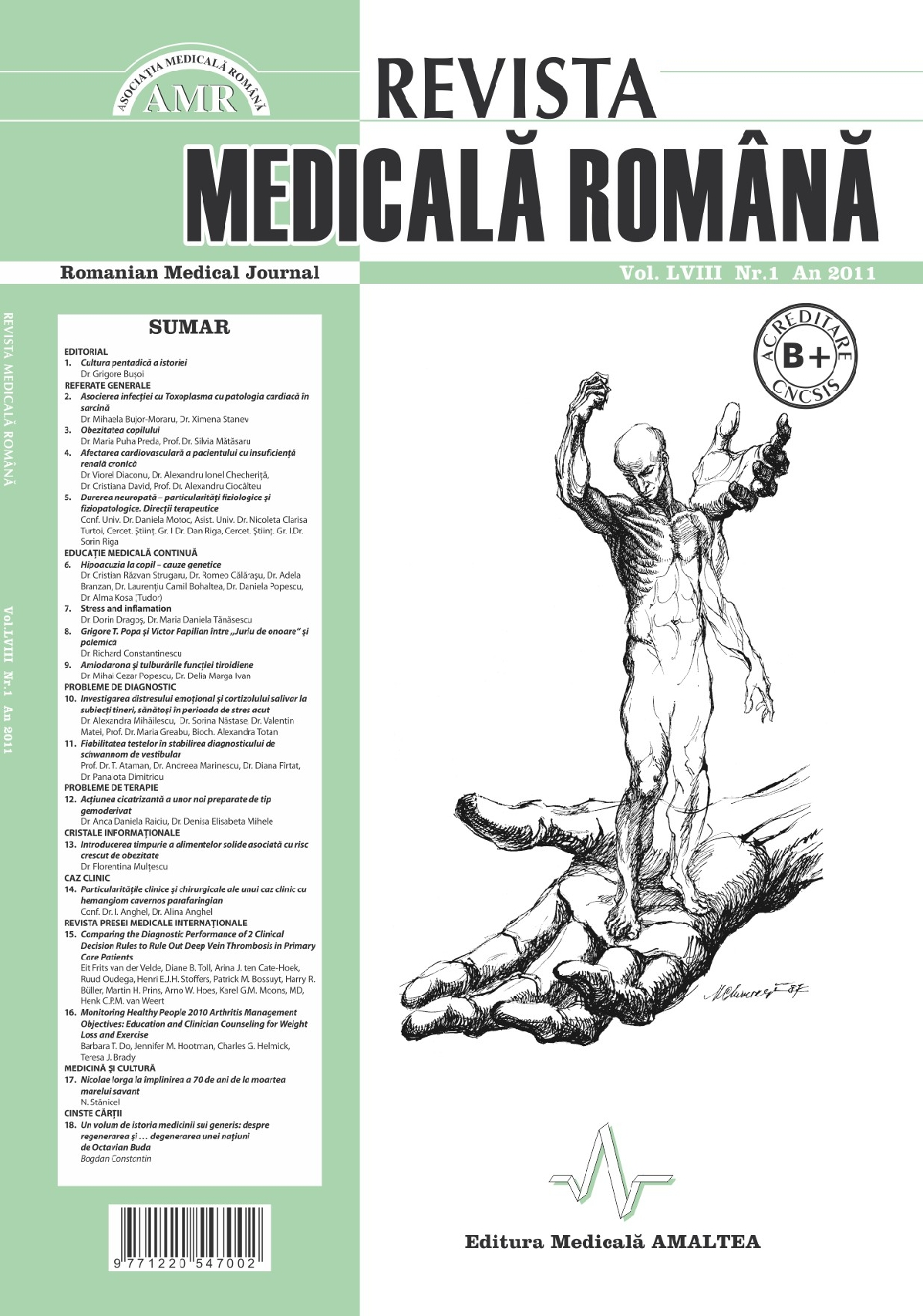 REVISTA MEDICALA ROMANA - Romanian Medical Journal, Vol. LVIII, Nr. 1, An 2011