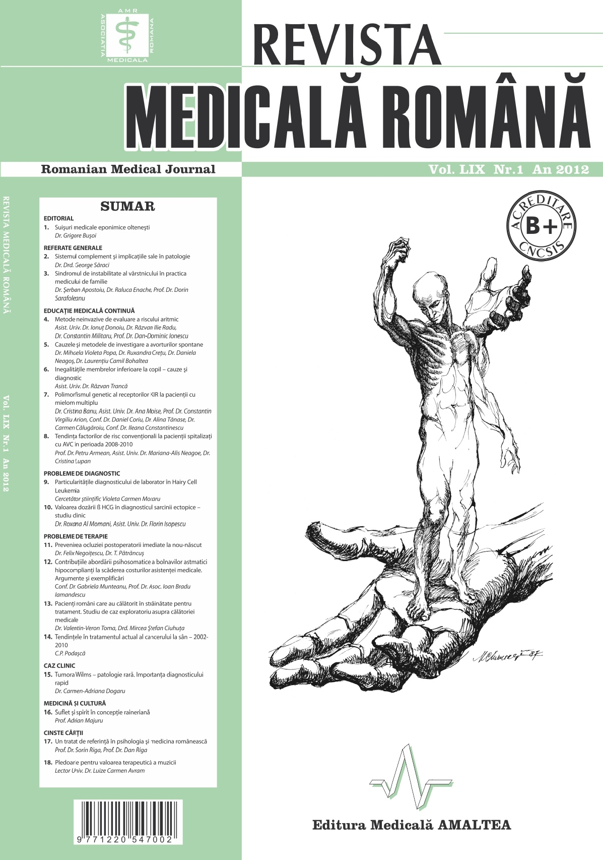 REVISTA MEDICALA ROMANA - Romanian Medical Journal, Vol. LIX, No. 1, Year 2012