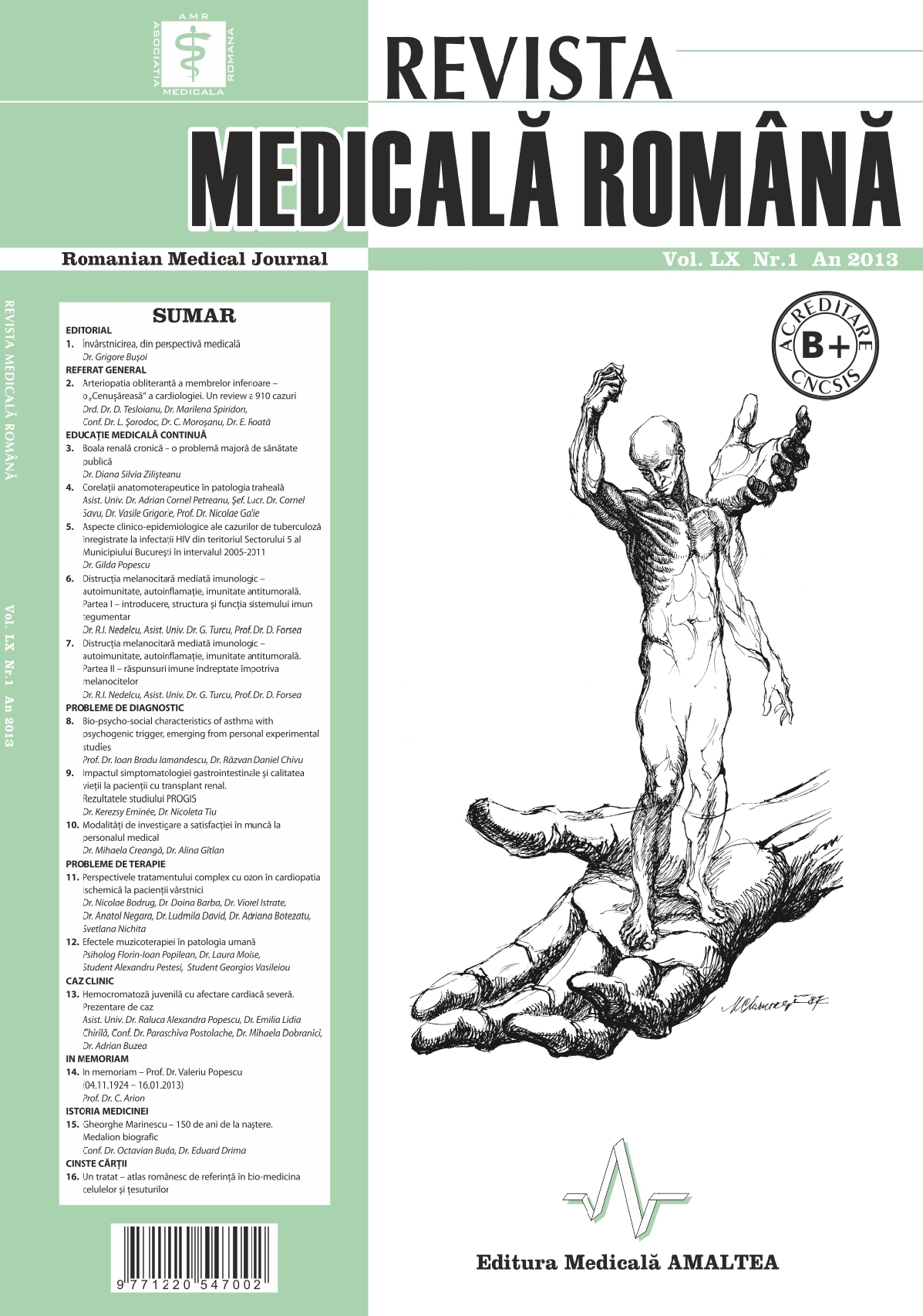 REVISTA MEDICALA ROMANA - Romanian Medical Journal, Vol. LX, Nr. 1, An 2013