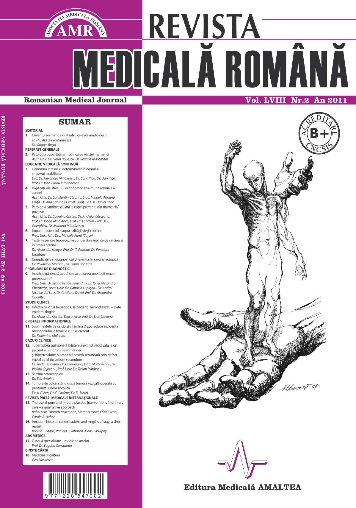 REVISTA MEDICALA ROMANA - Romanian Medical Journal, Vol. LVIII, Nr. 2, An 2011