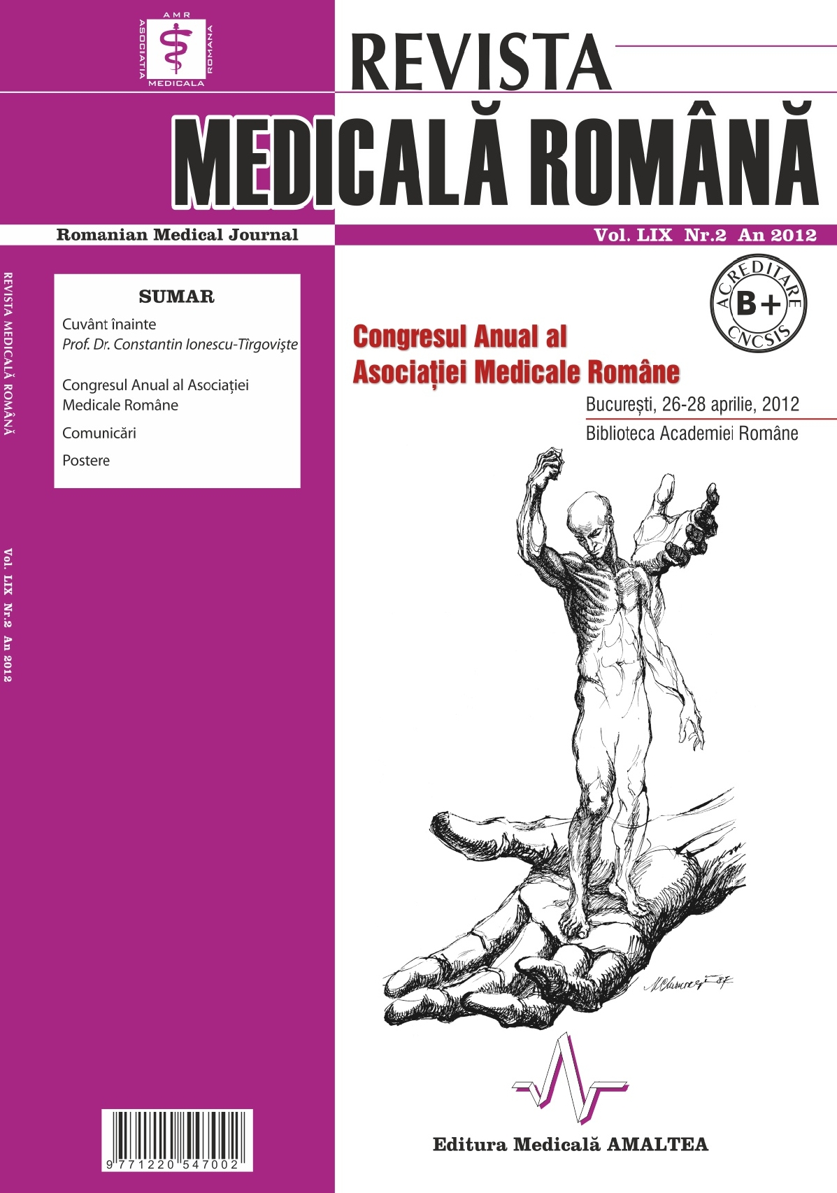 REVISTA MEDICALA ROMANA - Romanian Medical Journal, Vol. LIX, Nr. 2, An 2012