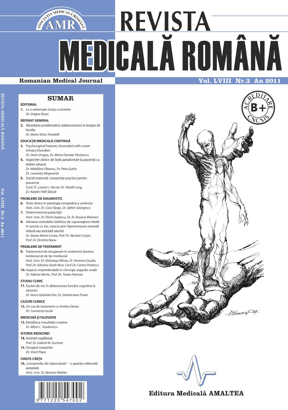 REVISTA MEDICALA ROMANA - Romanian Medical Journal, Vol. LVIII, Nr. 3, An 2011