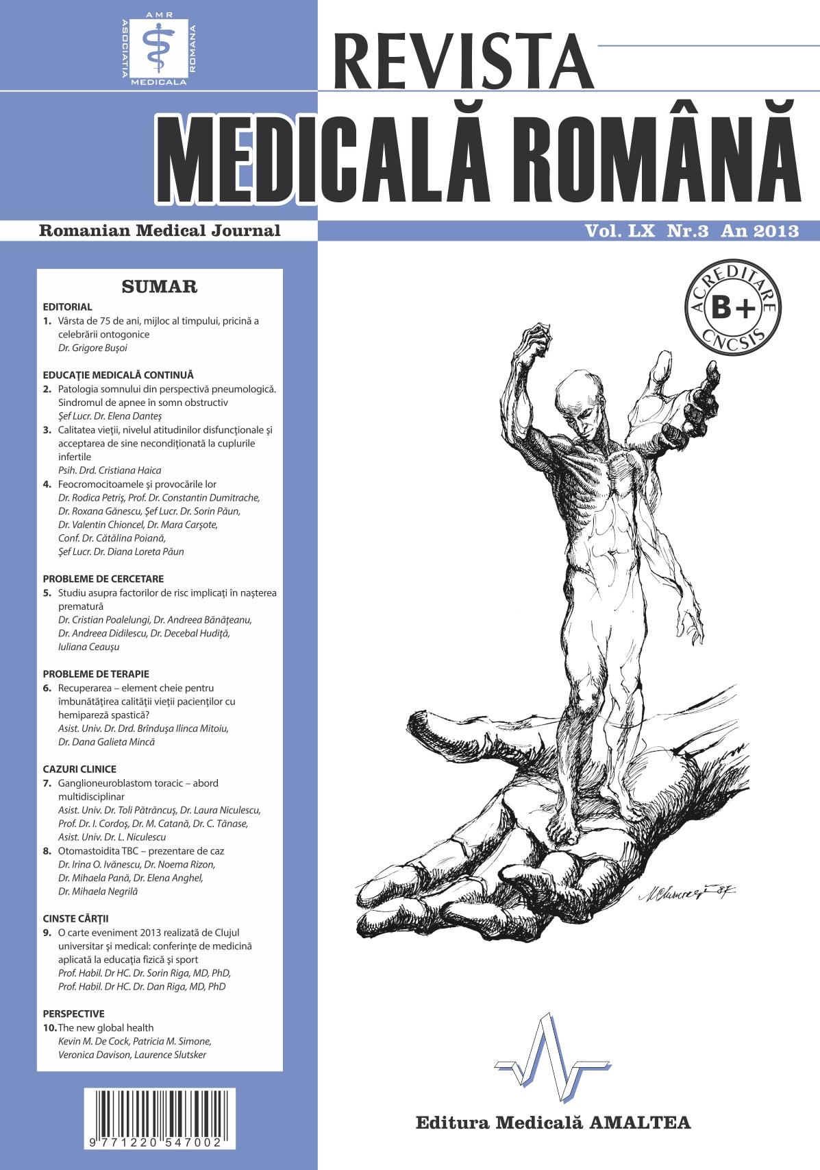 REVISTA MEDICALA ROMANA - Romanian Medical Journal, Vol. LX, Nr. 3, An 2013