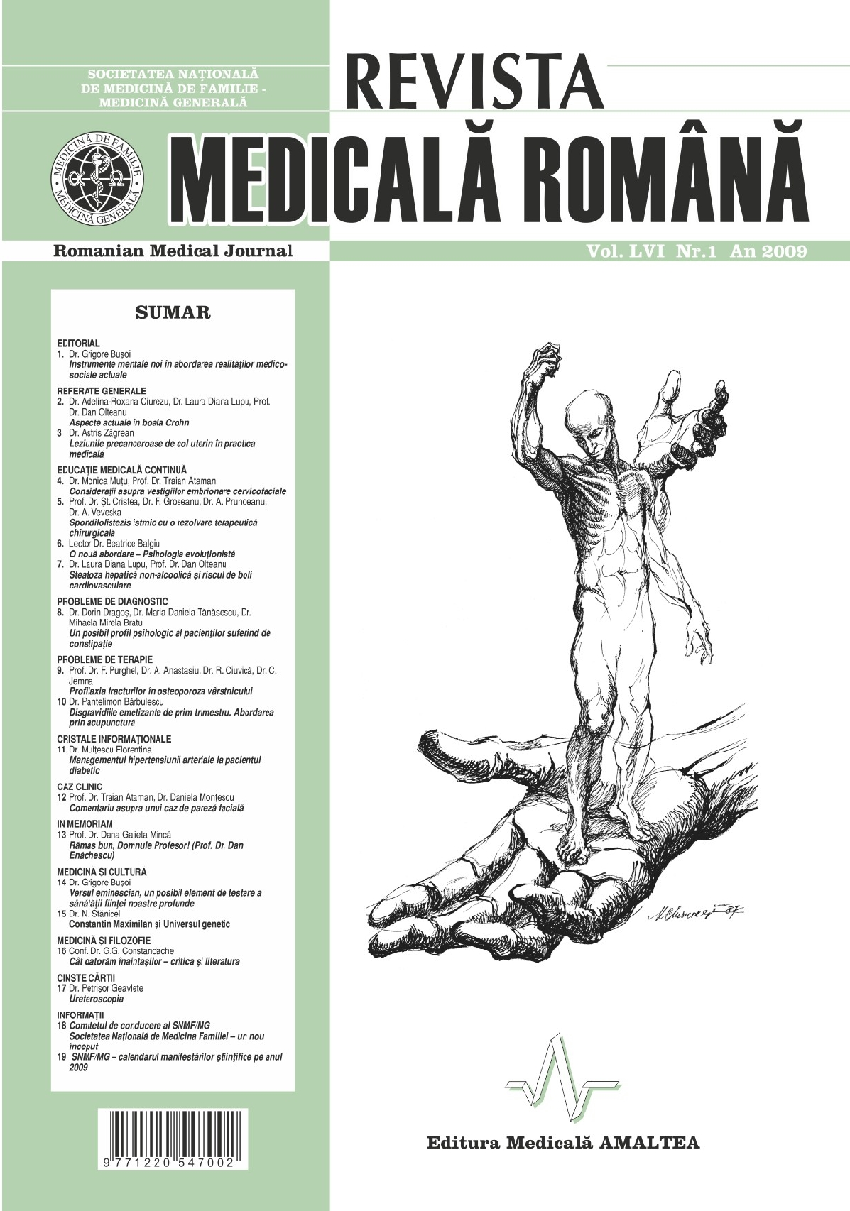 REVISTA MEDICALA ROMANA - Romanian Medical Journal, Vol. LVI, Nr. 1, An 2009