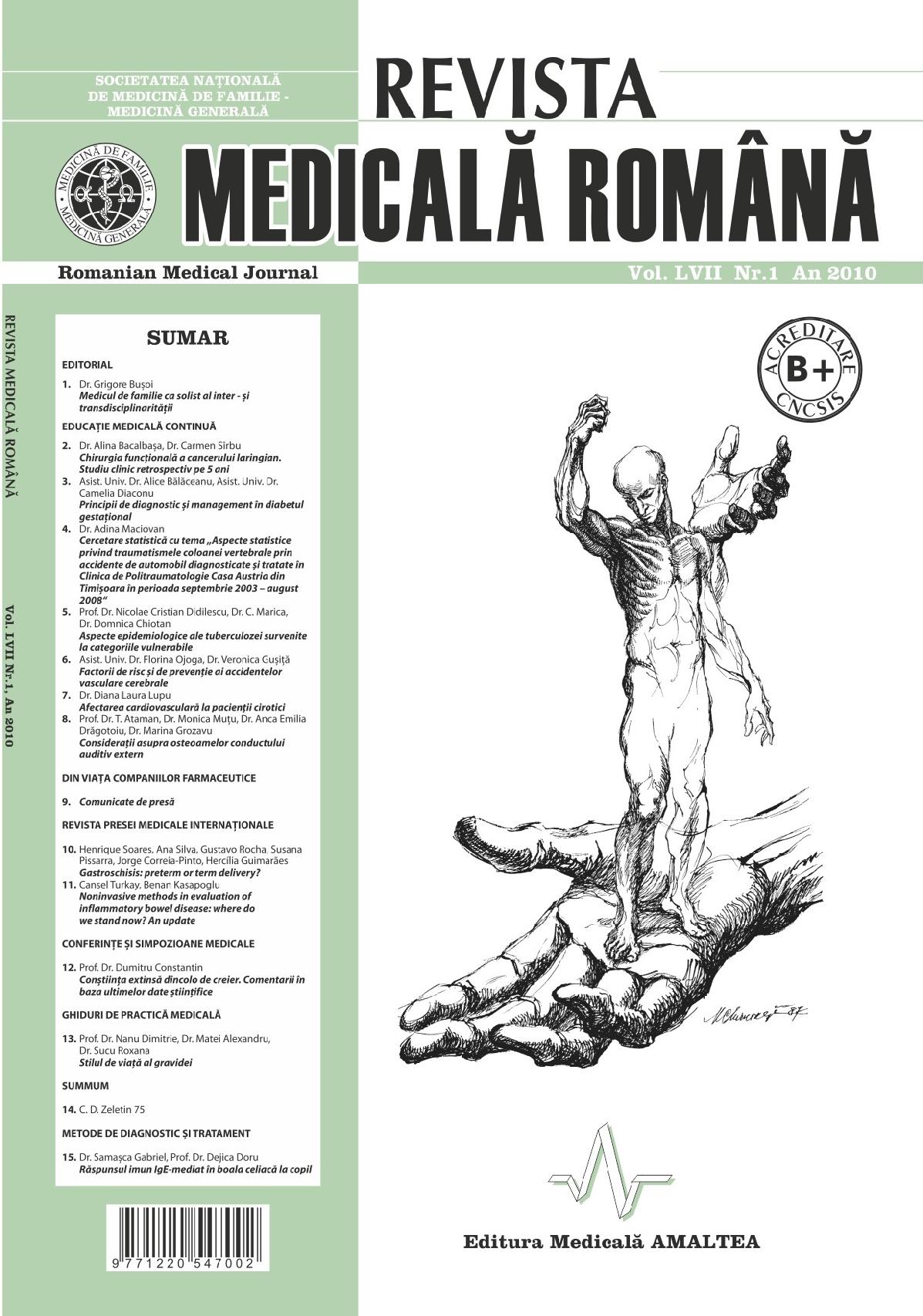 REVISTA MEDICALA ROMANA - Romanian Medical Journal, Vol. LVII, Nr. 1, An 2010