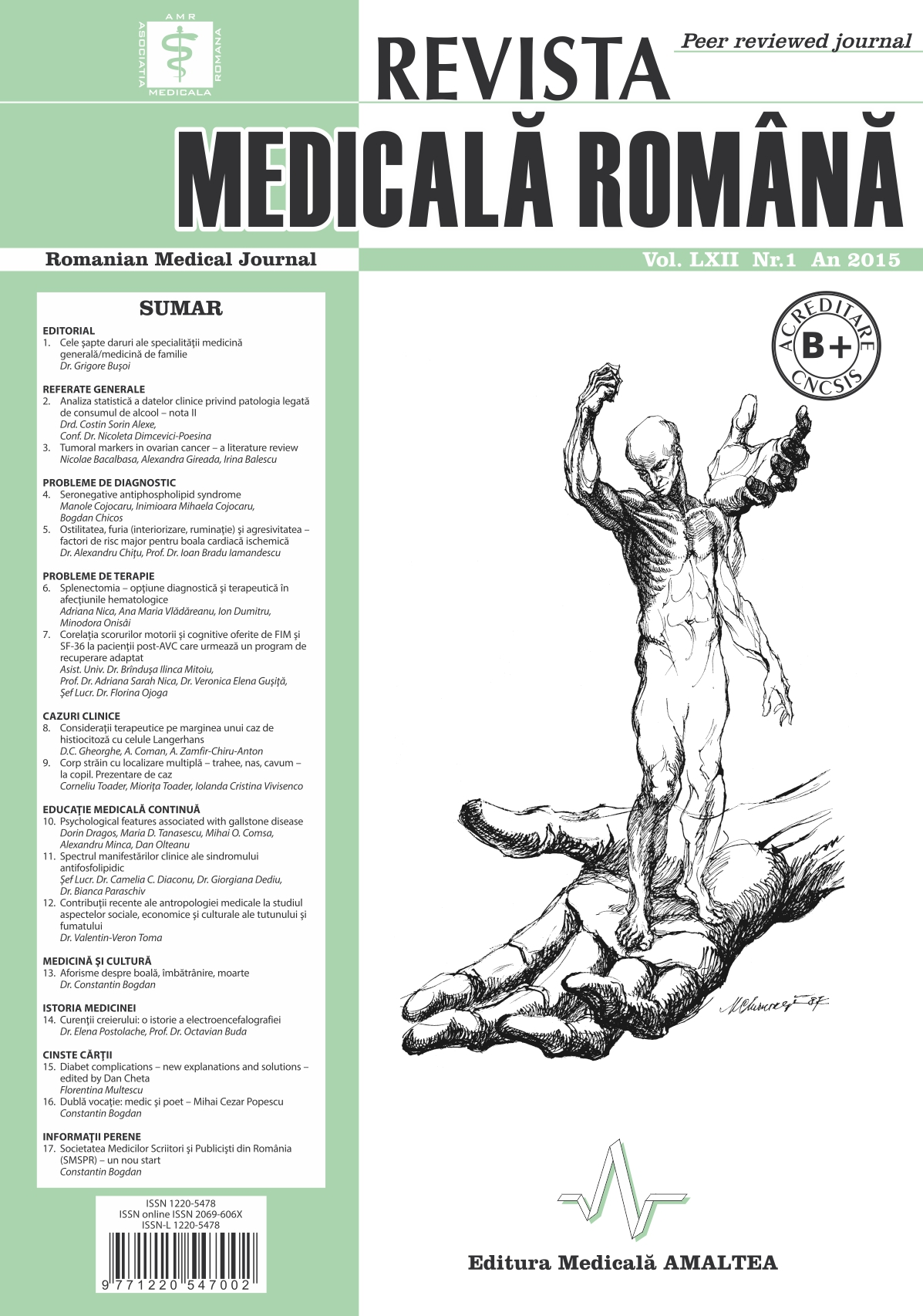 REVISTA MEDICALA ROMANA - Romanian Medical Journal, Vol. LXII, Nr. 1, An 2015