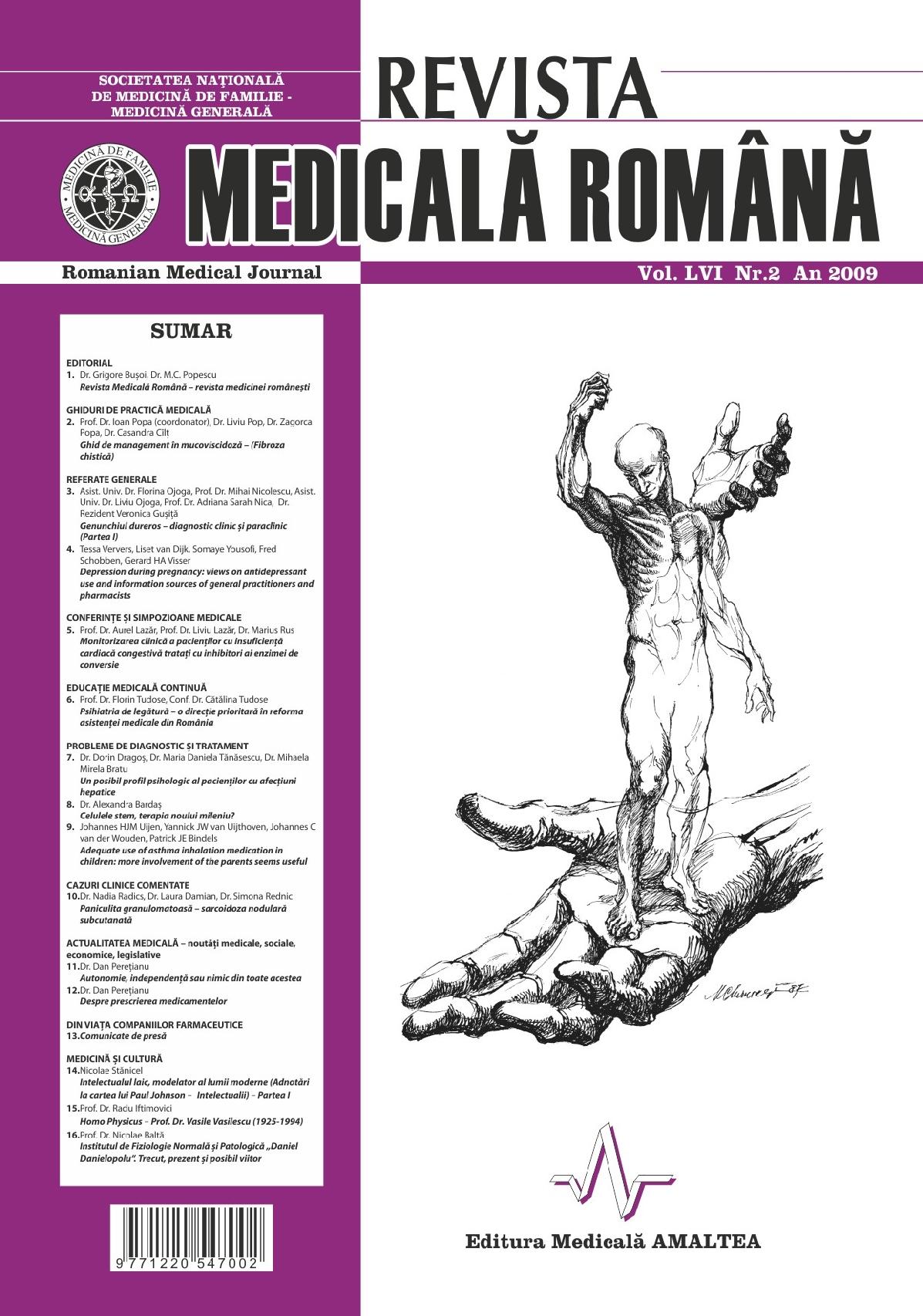 REVISTA MEDICALA ROMANA - Romanian Medical Journal, Vol. LVI, No. 2, Year 2009