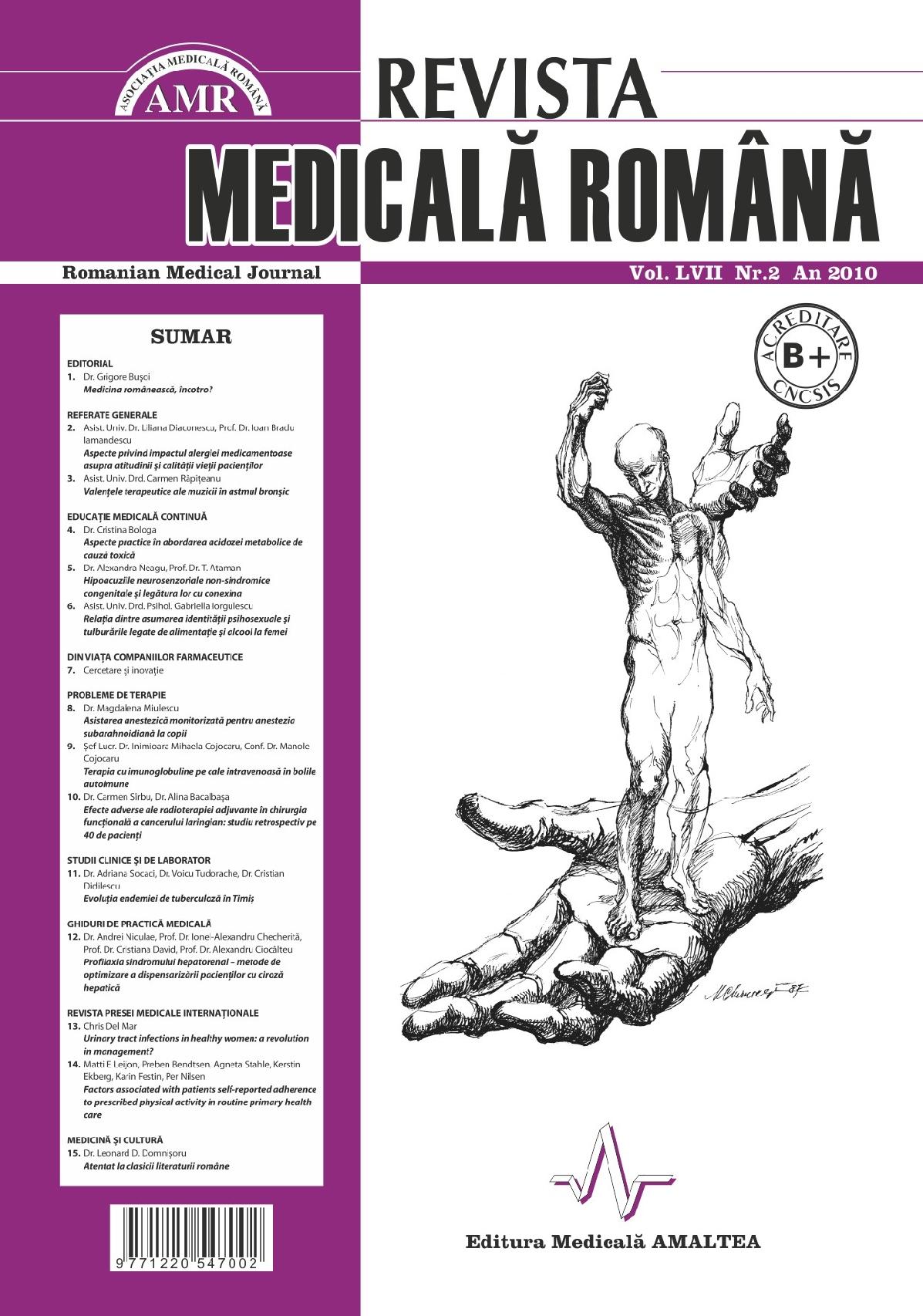 REVISTA MEDICALA ROMANA - Romanian Medical Journal, Vol. LVII, Nr. 2, An 2010
