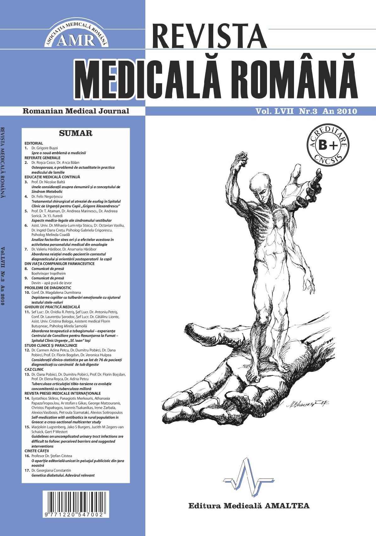 REVISTA MEDICALA ROMANA - Romanian Medical Journal, Vol. LVII, Nr. 3, An 2010