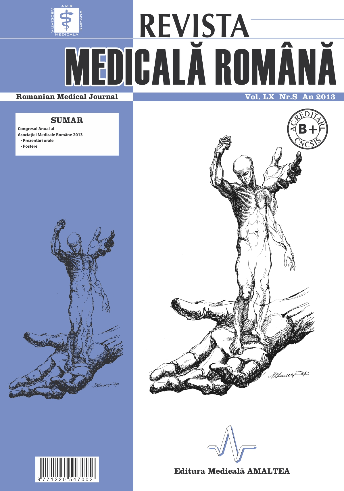 REVISTA MEDICALA ROMANA - Romanian Medical Journal, Vol. LX, No. S, Year 2013