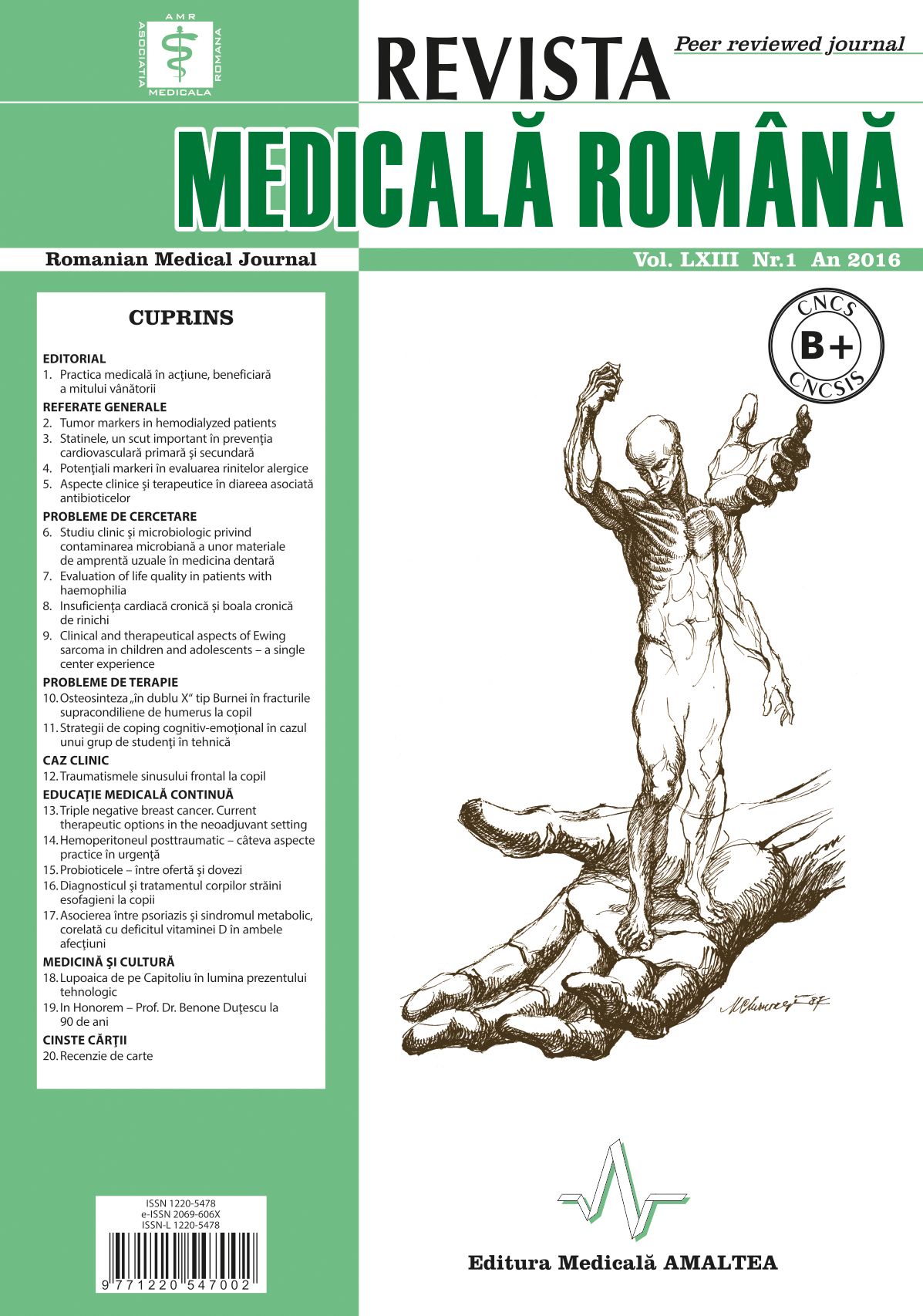 REVISTA MEDICALA ROMANA - Romanian Medical Journal, Vol. LXIII, Nr. 1, An 2016