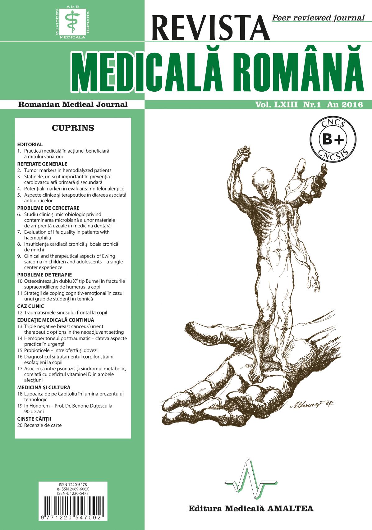 REVISTA MEDICALA ROMANA - Romanian Medical Journal, Vol. LXIII, No. 1, Year 2016
