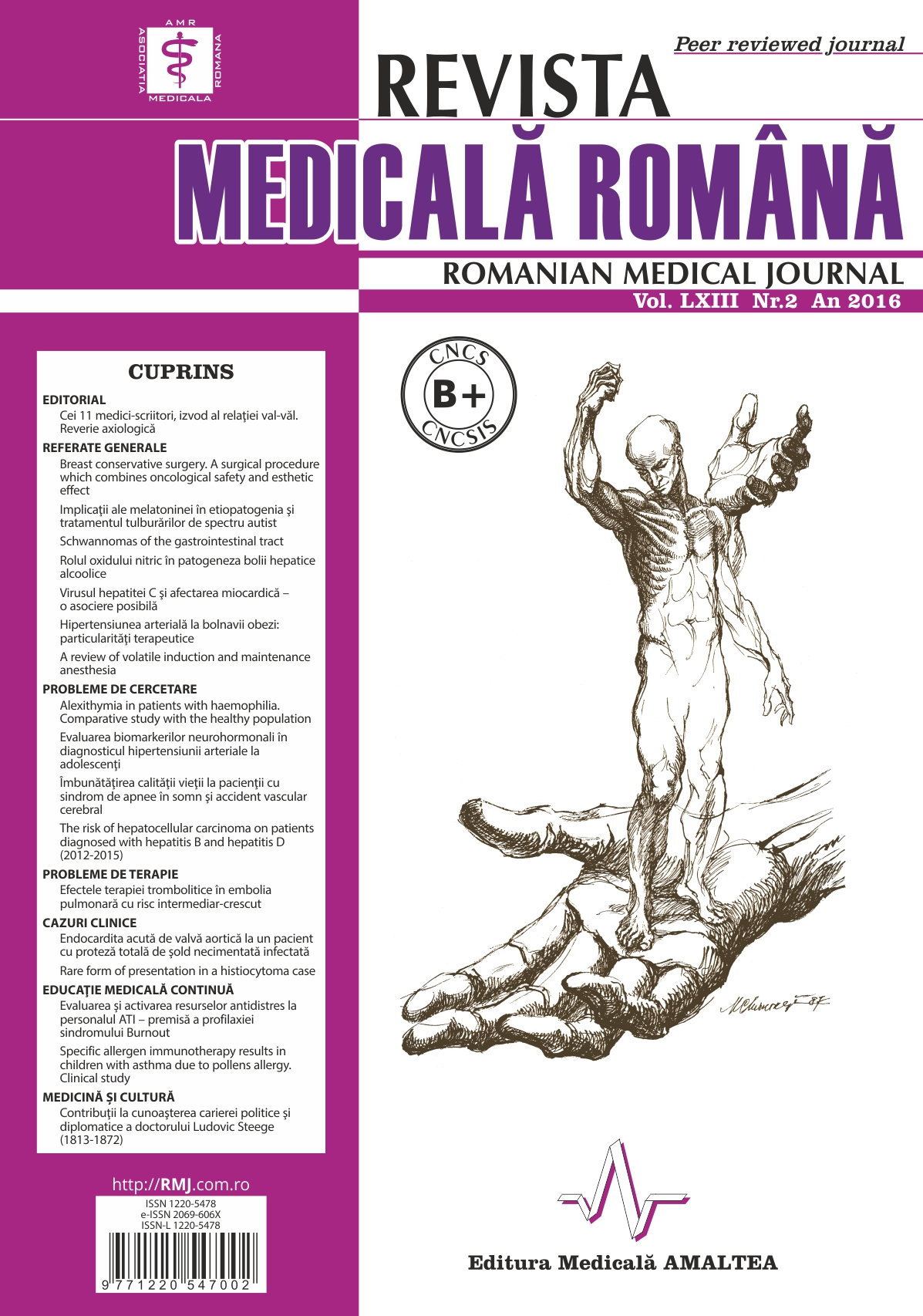 REVISTA MEDICALA ROMANA - Romanian Medical Journal, Vol. LXIII, Nr. 2, An 2016