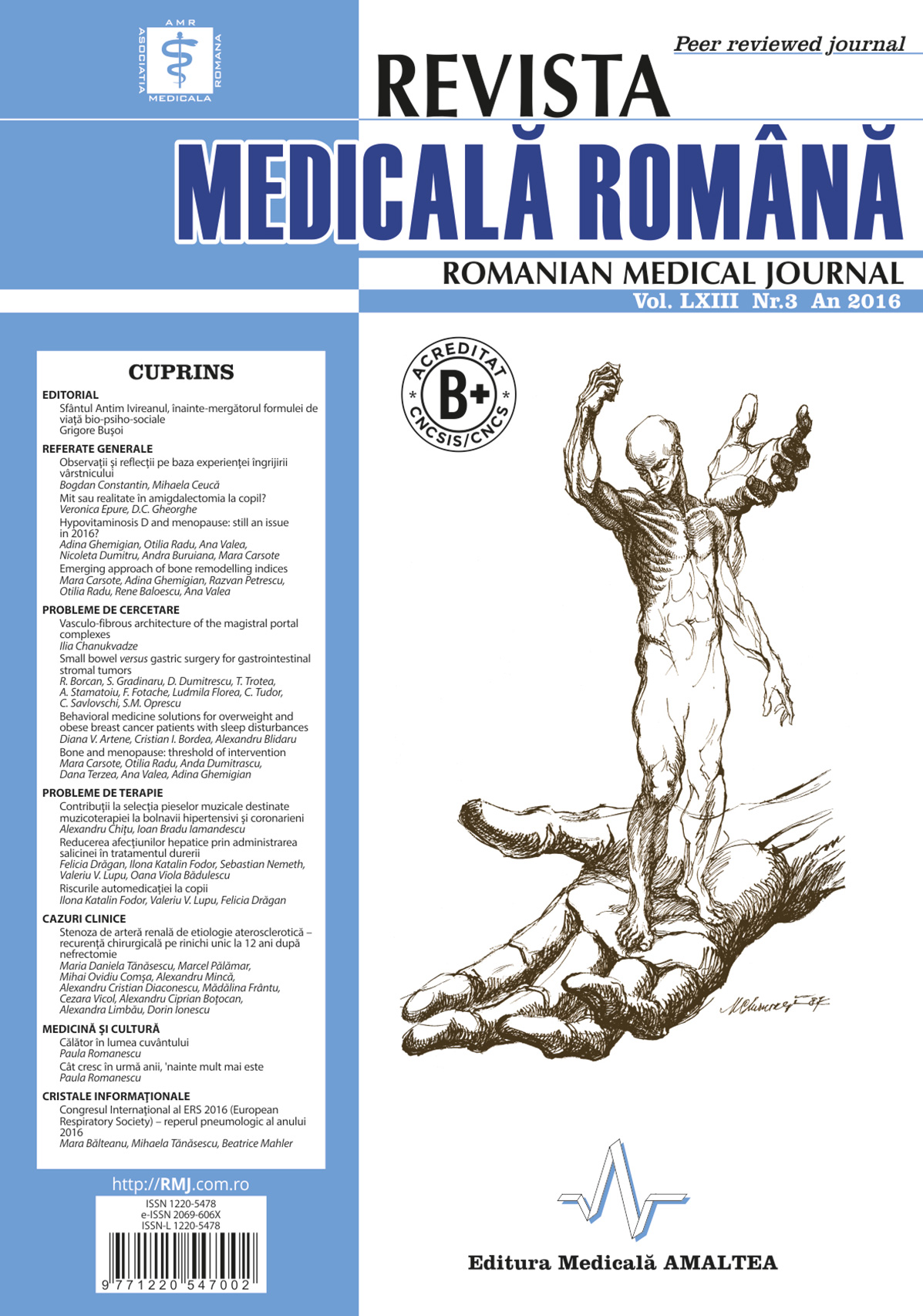 REVISTA MEDICALA ROMANA - Romanian Medical Journal, Vol. LXIII, Nr. 3, An 2016