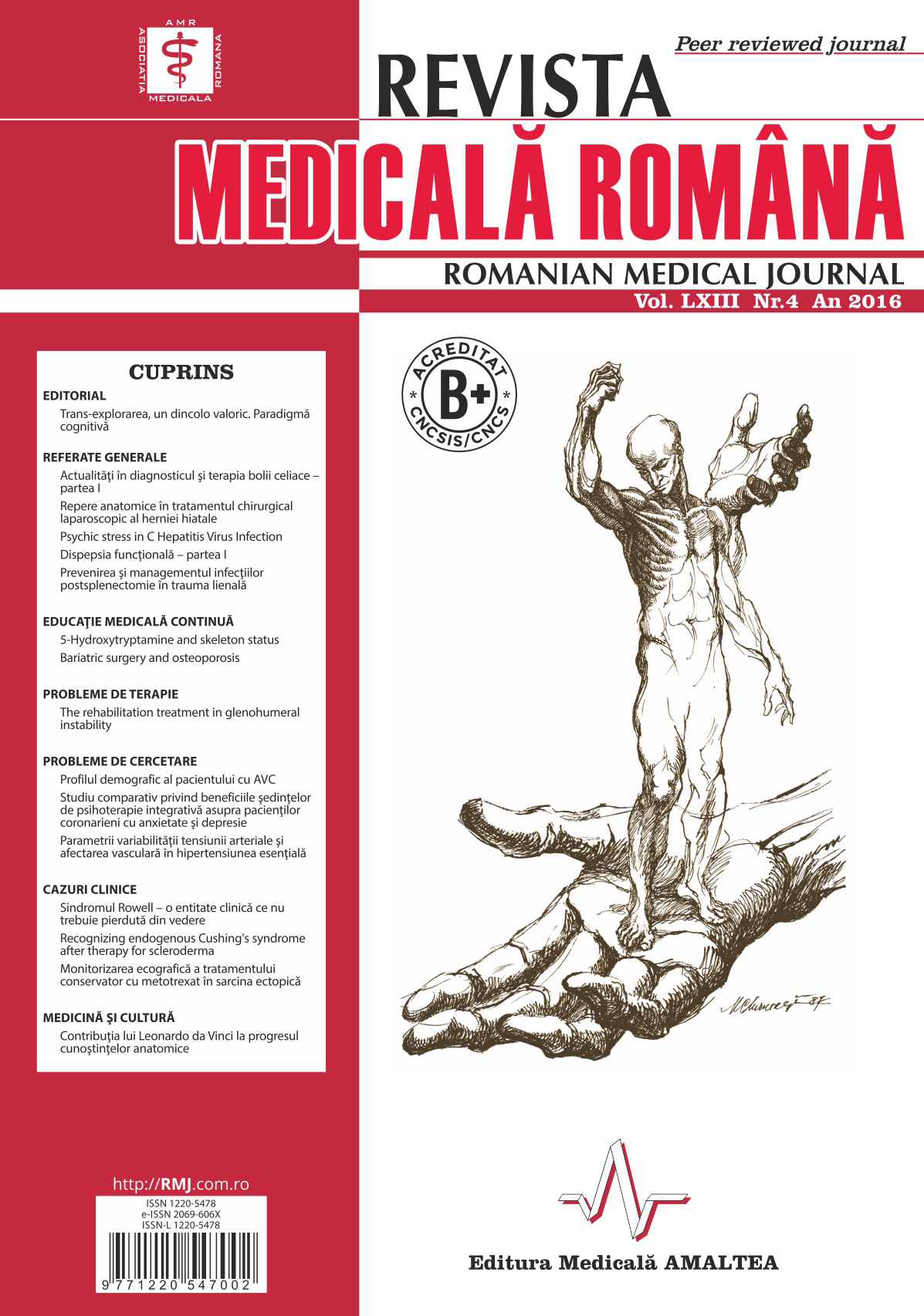 REVISTA MEDICALA ROMANA - Romanian Medical Journal, Vol. LXIII, Nr. 4, An 2016