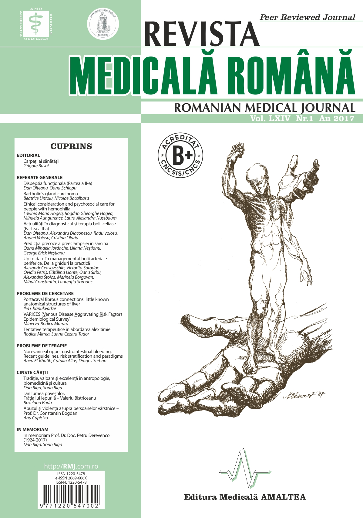 REVISTA MEDICALA ROMANA - Romanian Medical Journal, Vol. LXIV, No. 1, Year 2017