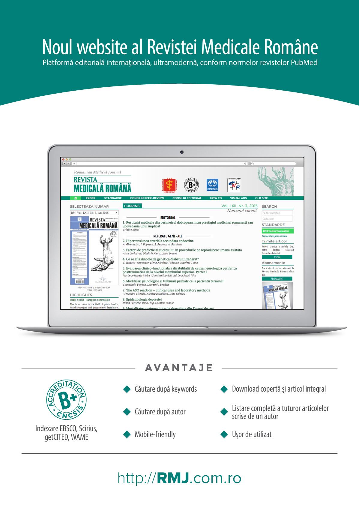 REVISTA MEDICALA ROMANA - Romanian Medical Journal