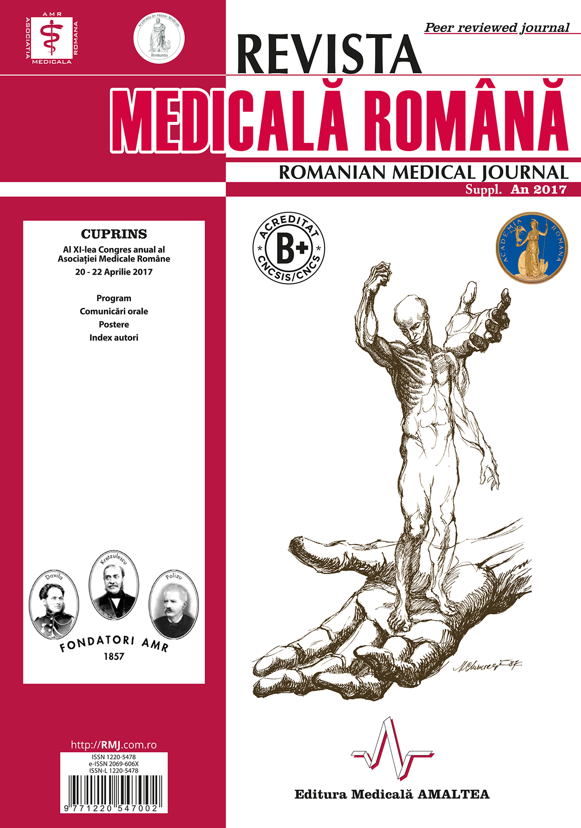 REVISTA MEDICALA ROMANA - Romanian Medical Journal, Vol. LXIV, Supliment, Year 2017
