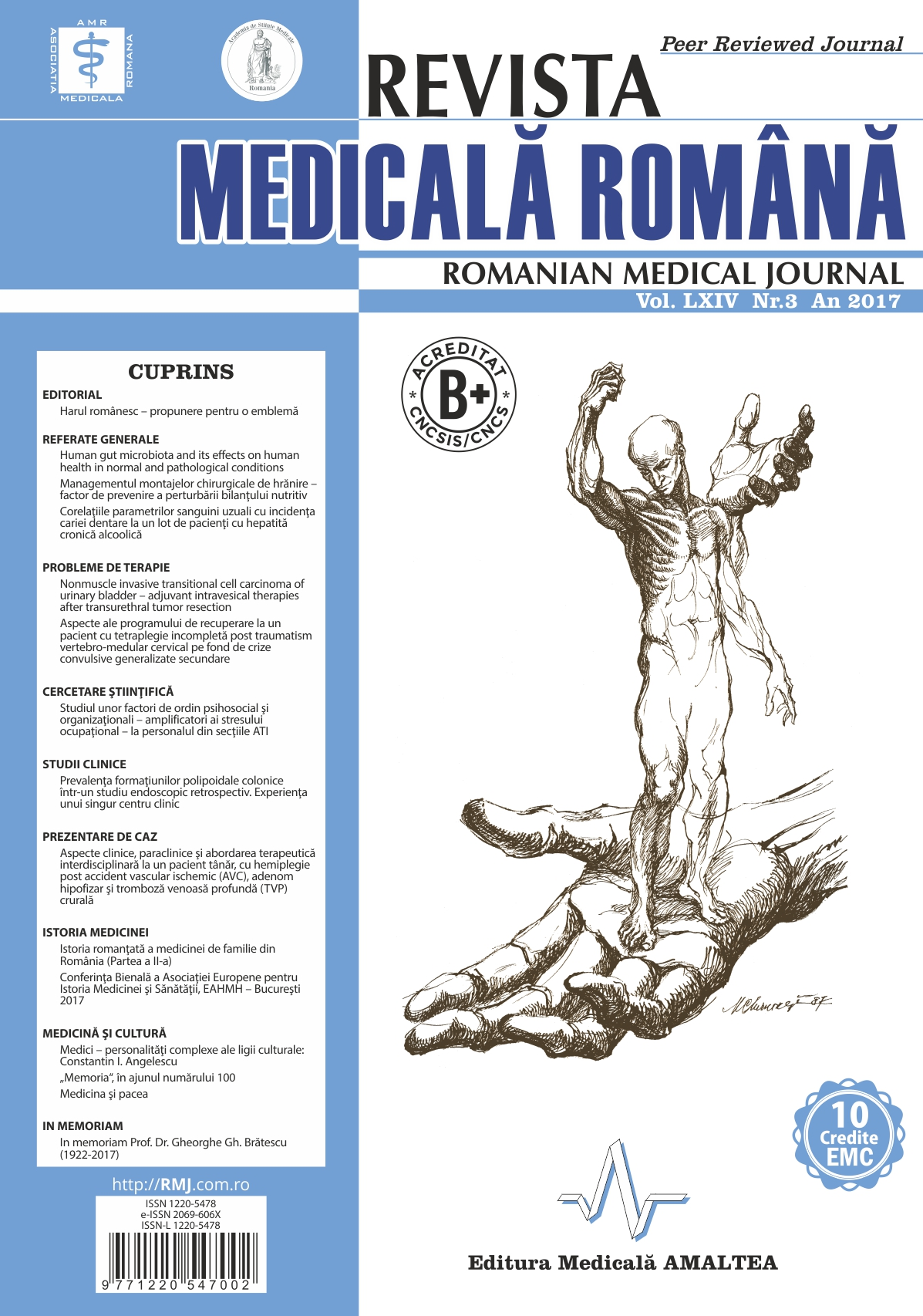 REVISTA MEDICALA ROMANA - Romanian Medical Journal, Vol. LXIV, Nr. 3, An 2017