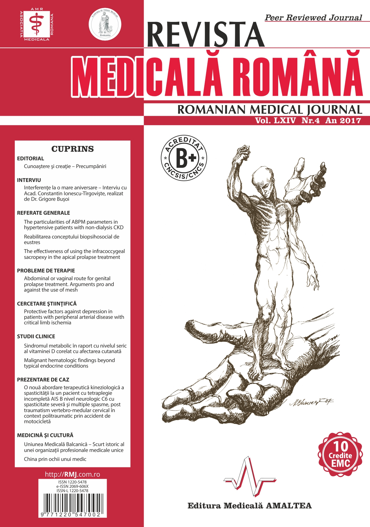 REVISTA MEDICALA ROMANA - Romanian Medical Journal, Vol. LXIV, Nr. 4, An 2017