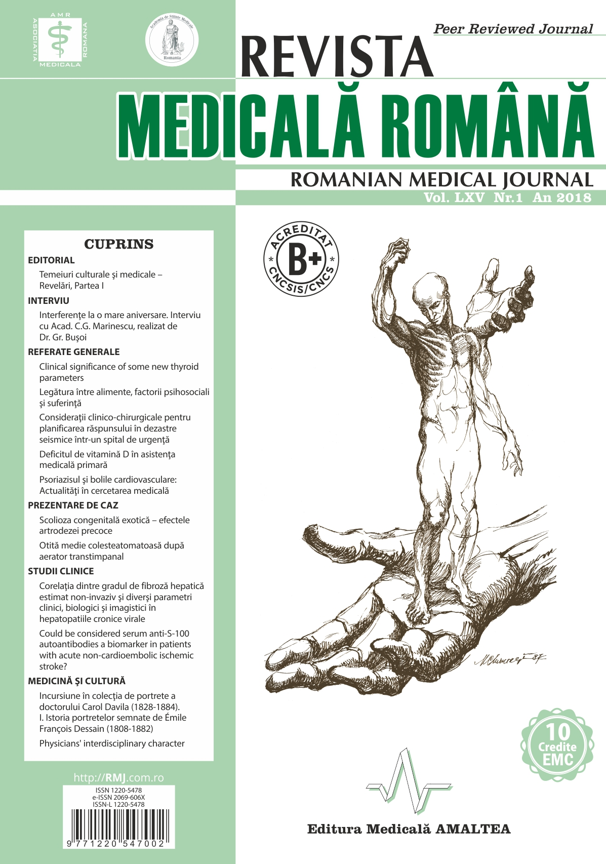 REVISTA MEDICALA ROMANA - Romanian Medical Journal, Vol. LXV, Nr. 1, An 2018