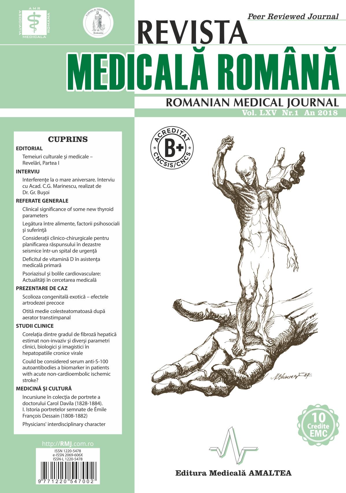 REVISTA MEDICALA ROMANA - Romanian Medical Journal, Vol. LXV, Nr. 1, An 2018