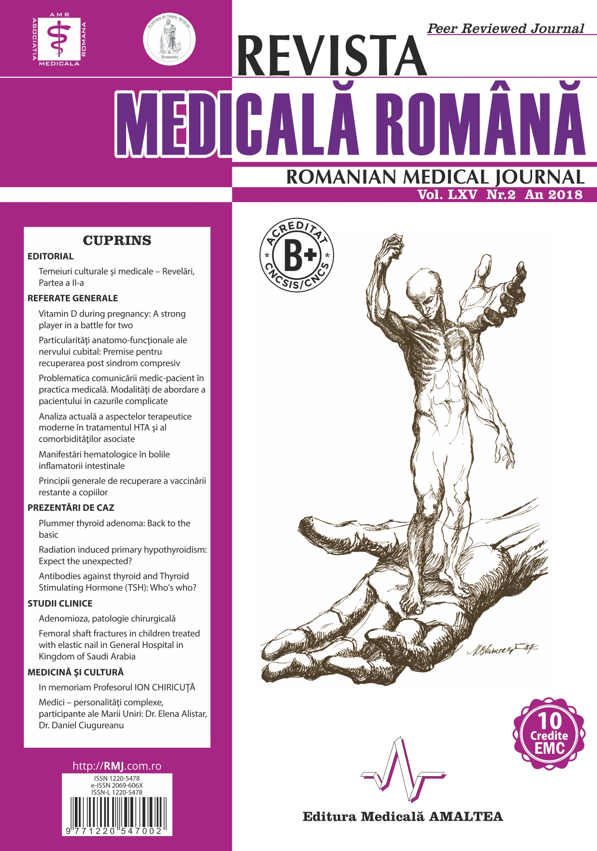 REVISTA MEDICALA ROMANA - Romanian Medical Journal, Vol. LXV, No. 2, Year 2018