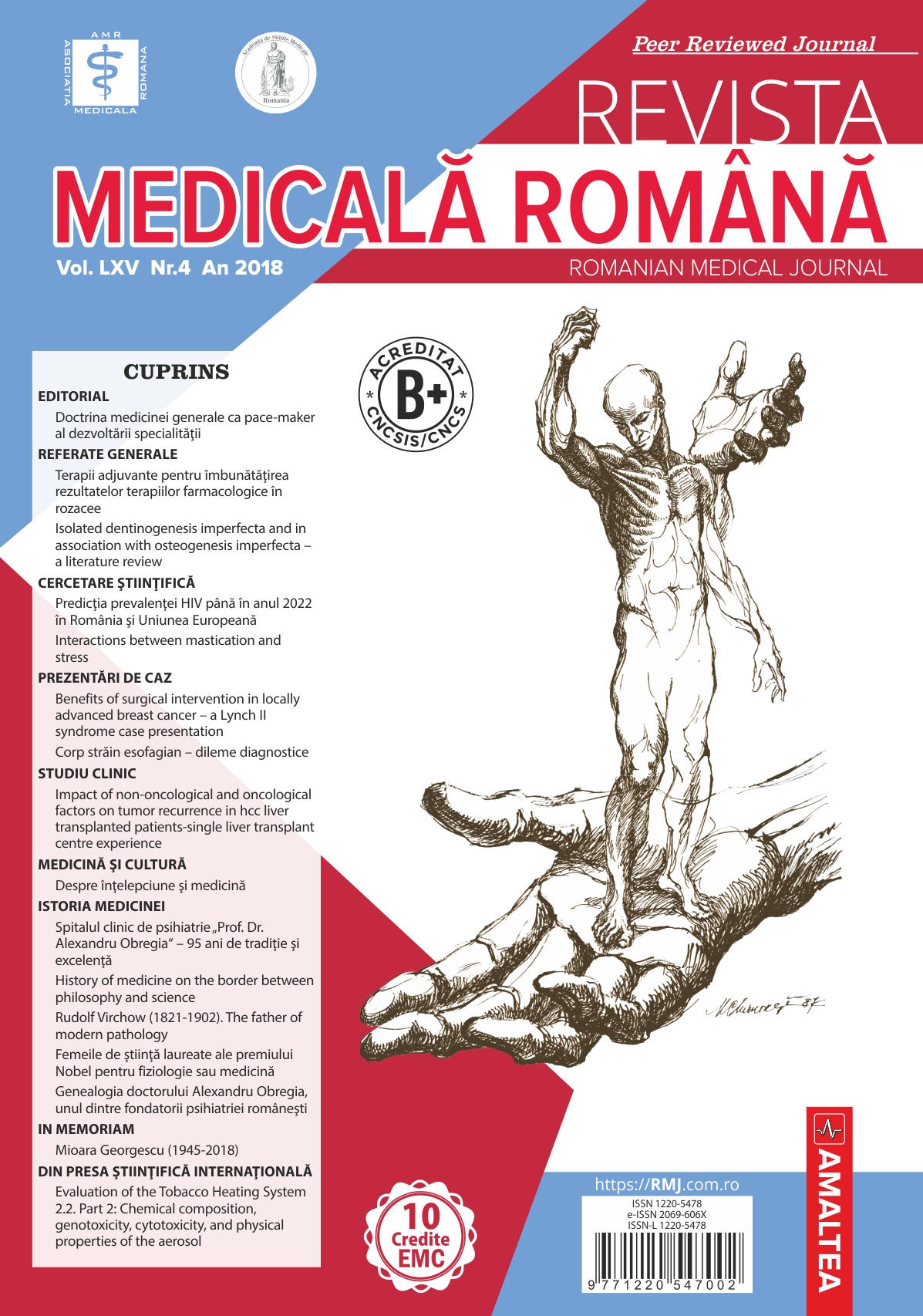 REVISTA MEDICALA ROMANA - Romanian Medical Journal, Vol. LXV, No. 4, Year 2018