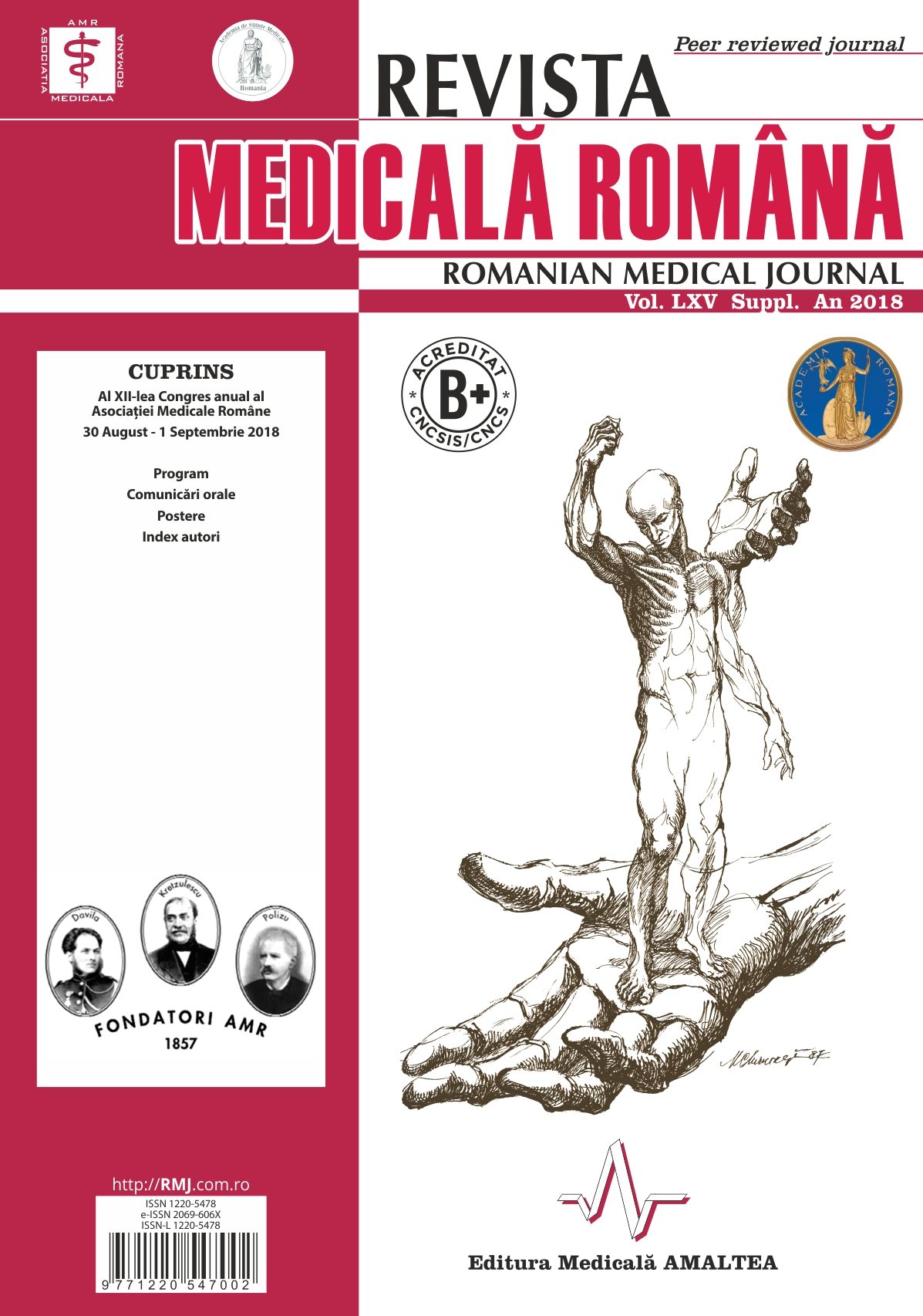 REVISTA MEDICALA ROMANA - Romanian Medical Journal, Vol. LXV, No. S, Year 2018