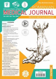 Romanian Medical Journal   Vol. LXVI, No. 1, Year 2019
