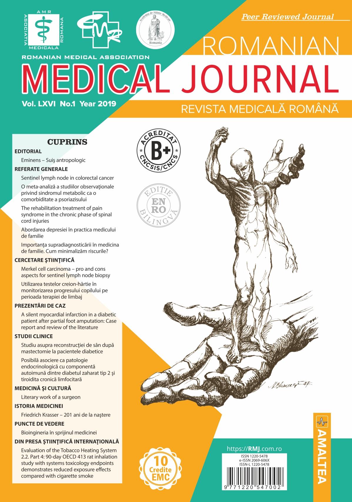 REVISTA MEDICALA ROMANA - Romanian Medical Journal, Vol. LXVI, No. 1, Year 2019