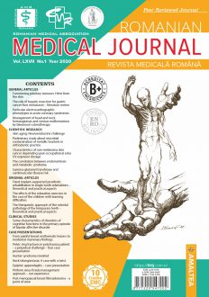 Romanian Medical Journal | Vol. LXVII, No. 1, Year 2020