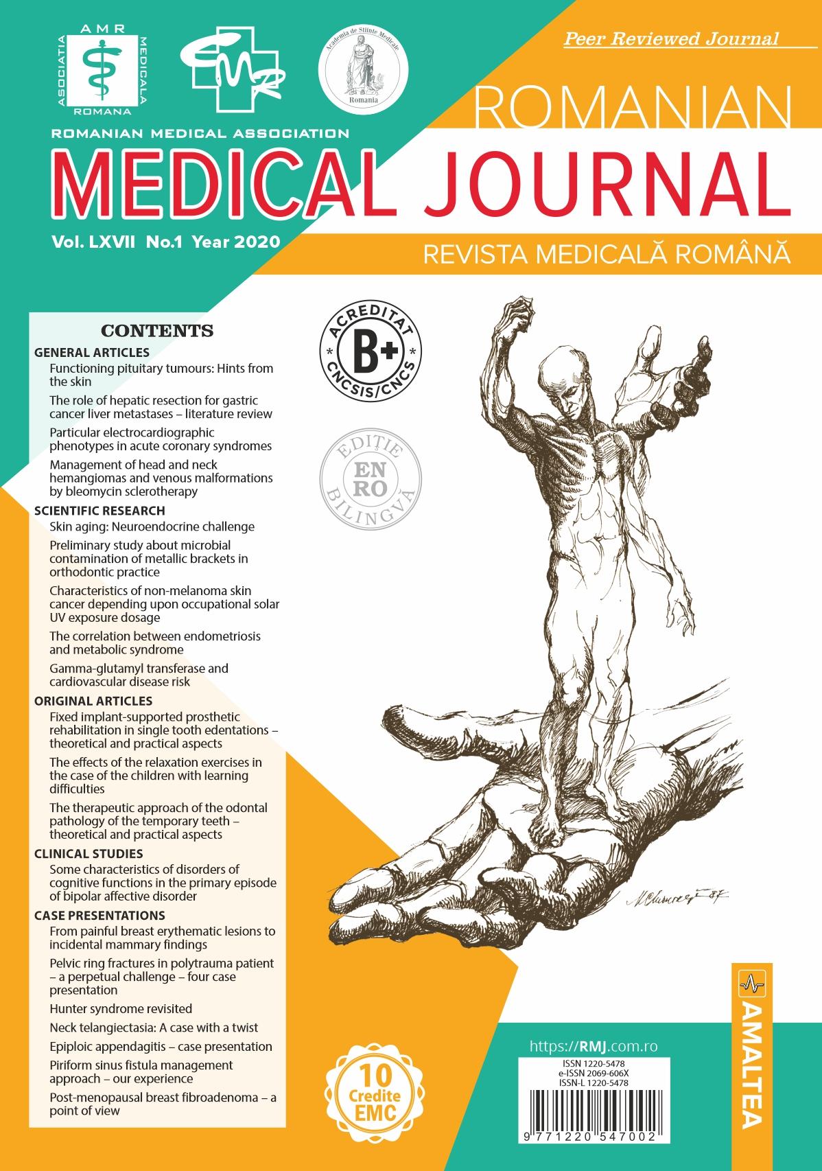 REVISTA MEDICALA ROMANA - Romanian Medical Journal, Vol. LXVII, No. 1, Year 2020