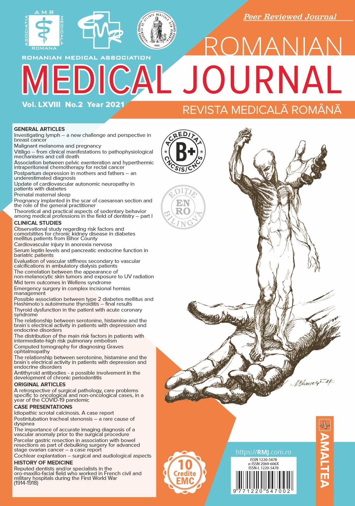 ROMANIAN MEDICAL JOURNAL - Revista Medicala Romana, Vol. LXVIII, No. 2, Year 2021