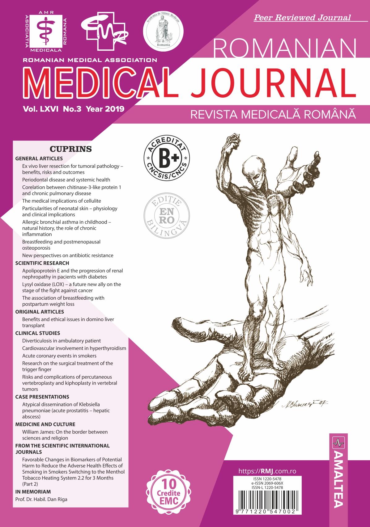 REVISTA MEDICALA ROMANA - Romanian Medical Journal, Vol. LXVI, No. 3, Year 2019