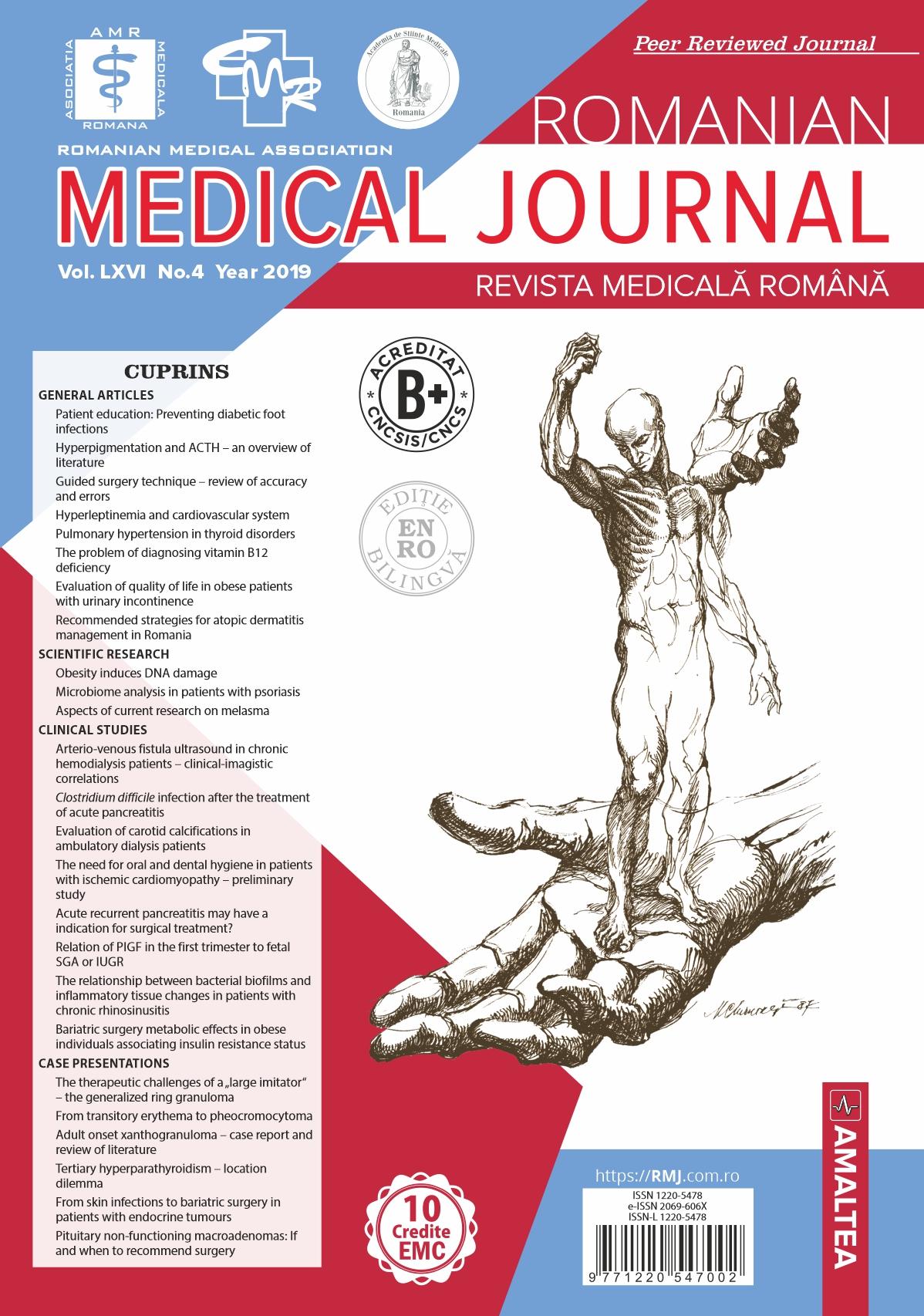 REVISTA MEDICALA ROMANA - Romanian Medical Journal, Vol. LXVI, No. 4, Year 2019
