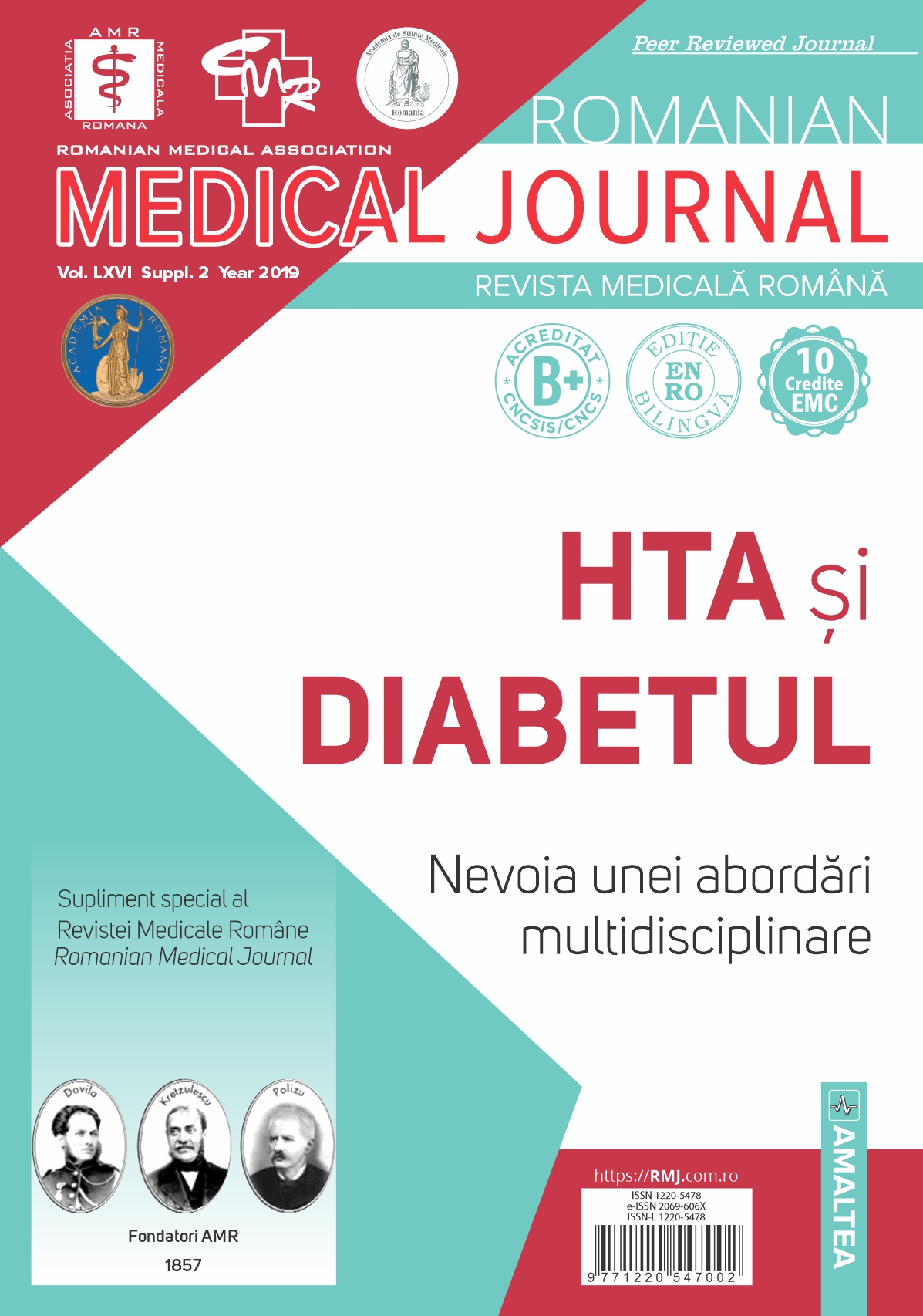 Romanian Medical Journal - REVISTA MEDICALA ROMANA, Vol. LXVI, Suppl. 2, Year 2019