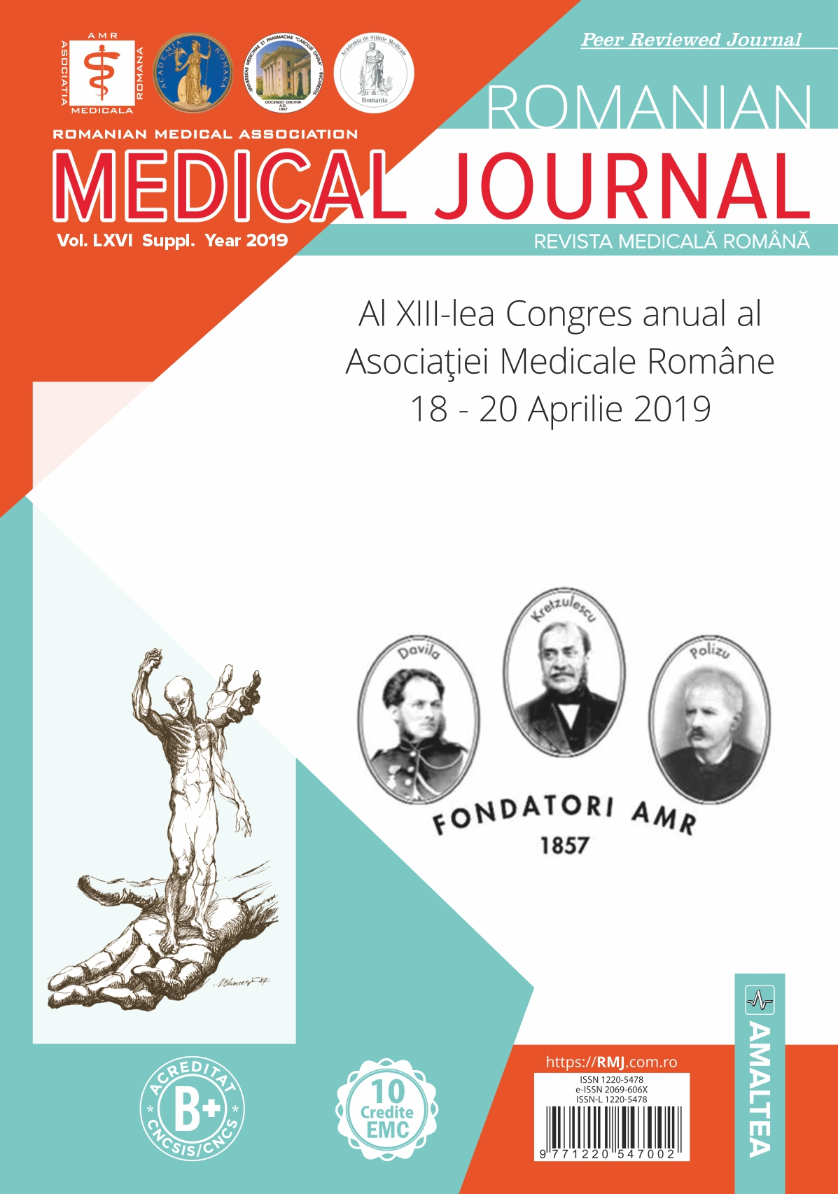 Romanian Medical Journal - REVISTA MEDICALA ROMANA, Vol. LXVI, Suppl., Year 2019