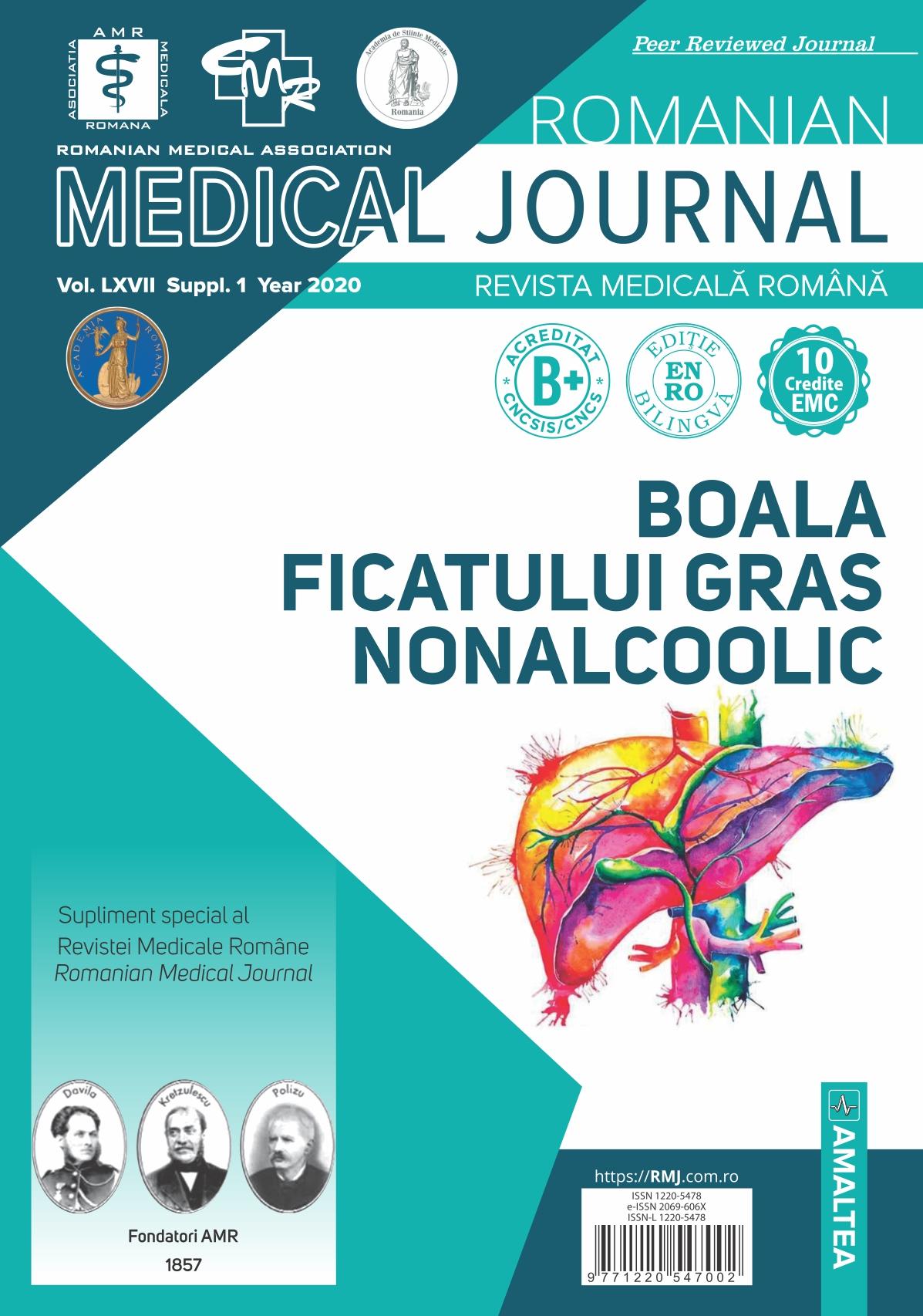 Romanian Medical Journal - REVISTA MEDICALA ROMANA, Vol. LXVII, Suppl., Year 2020