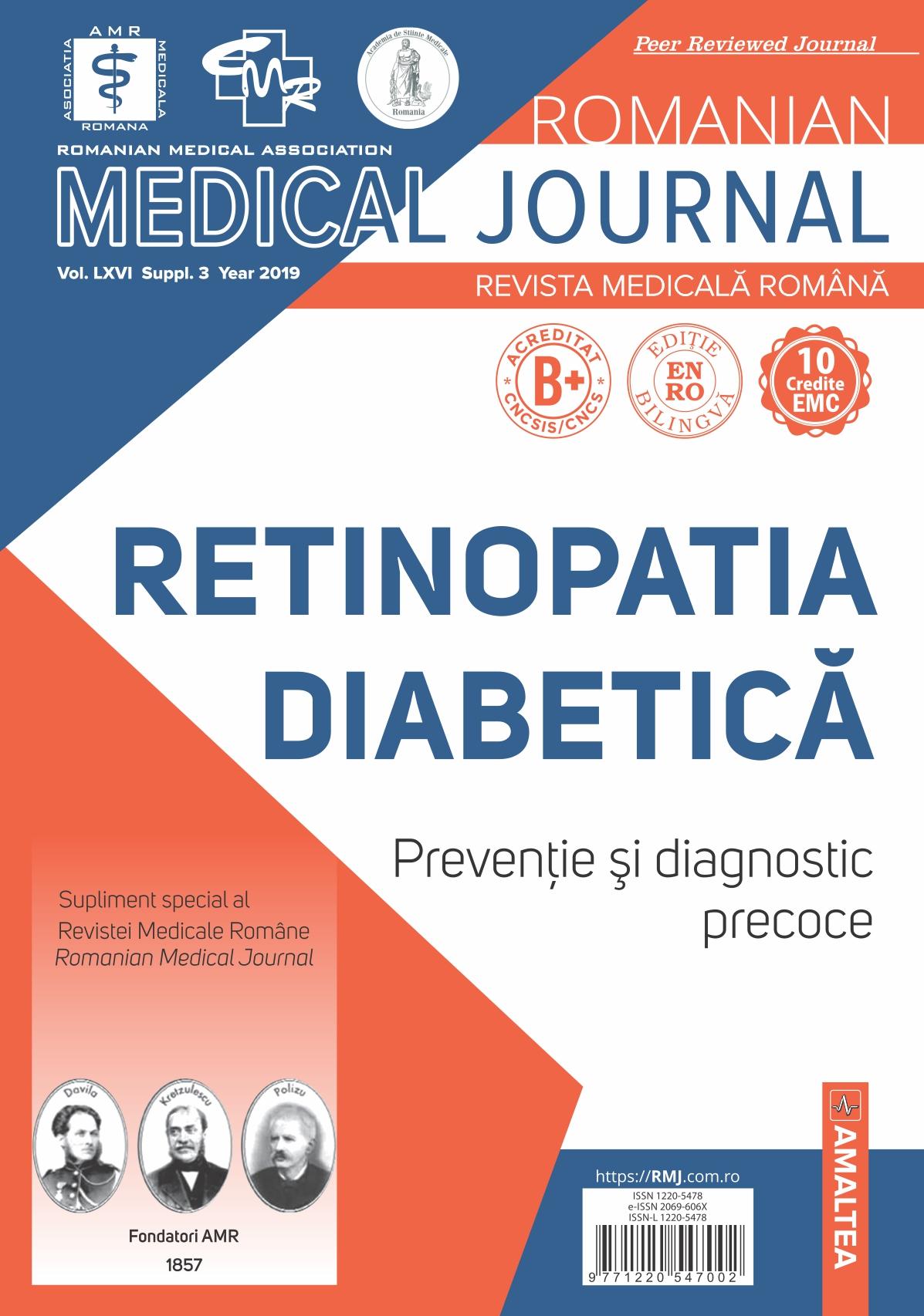 Romanian Medical Journal - REVISTA MEDICALA ROMANA, Vol. LXVI, Suppl. 3, Year 2019